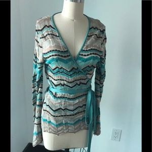 Missoni wool wrap top. Great condition